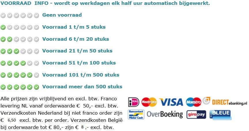 voorraad info en betalingssystemen