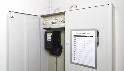 Toilet sanitair a memo met magneetrand u houders en acryl